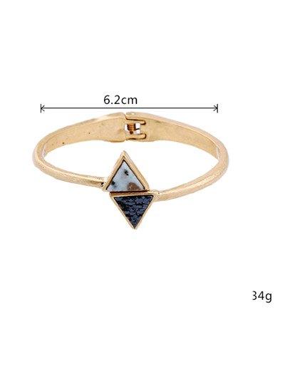 Natural Stone Triangle Vintage Bracelet - GOLDEN  Mobile
