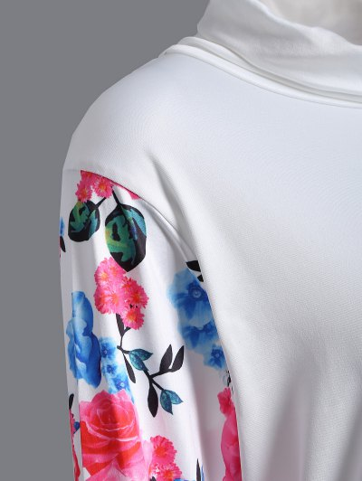String Floral Sweatshirt - WHITE M Mobile