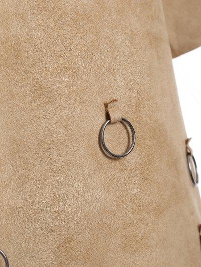 Tassels A-Line Dress - CAMEL S Mobile