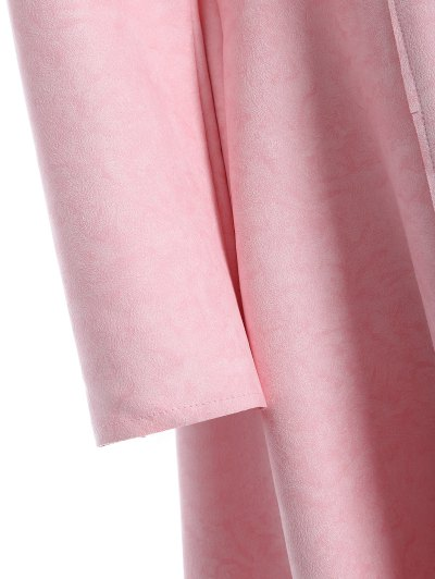 Patched Fit and Flare Dress - PINK L Mobile
