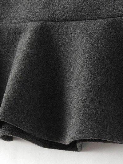 High Waist Turmpet Skirt - GRAY L Mobile