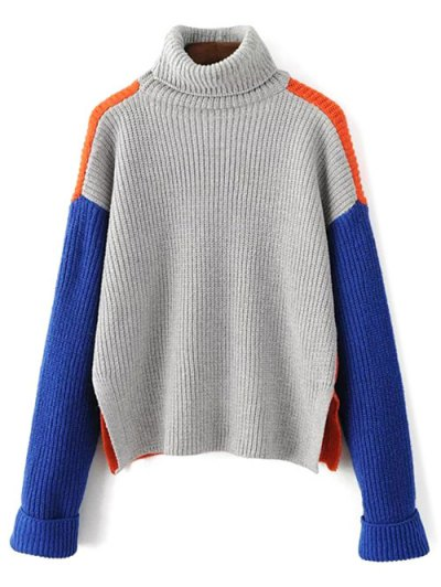 Turtleneck Chunky Sweater - JACINTH ONE SIZE Mobile