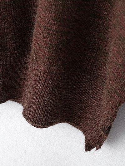 Heathered Slit Sweater - CLARET ONE SIZE Mobile