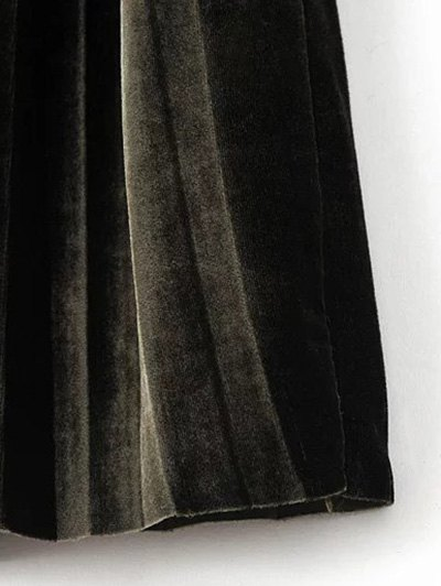 High Waist Midi Pleated Skirt - FROST ONE SIZE Mobile