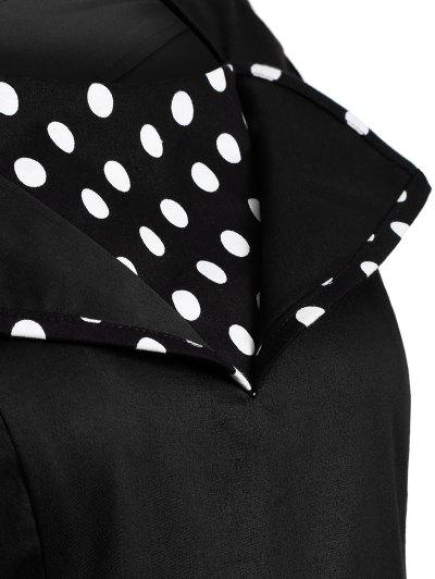 Vintage Sleeveless Polka Dot Dress - BLACK M Mobile