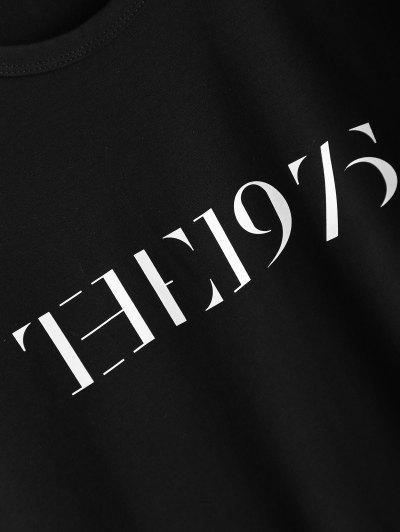 Jewel Neck The 1975 T-Shirt - BLACK L Mobile