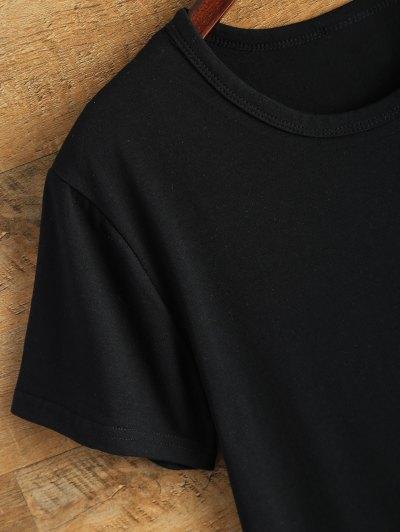 Jewel Neck Alien T-Shirt - BLACK M Mobile