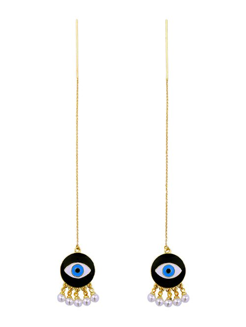 Artificial Pearl Eye Earrings