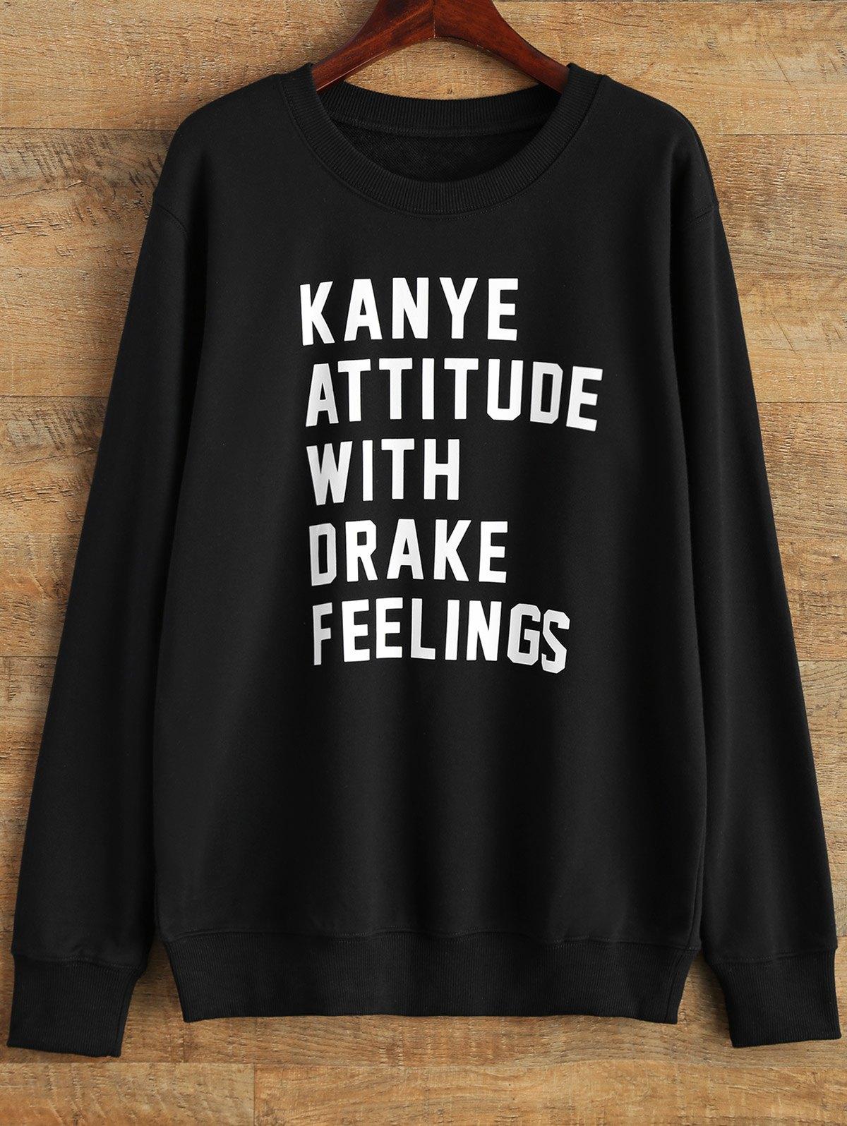 Streetwear Crew Neck Letter Sweatshirt
