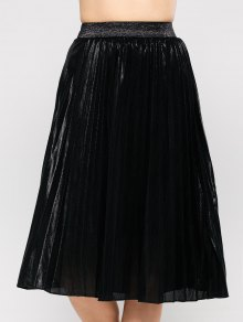Pleated Tea Length Skirt
