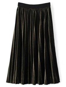 High Waist Midi Pleated Skirt