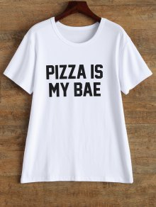 Jewel Neck Pizza Is My Bae T-Shirt