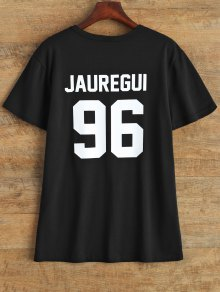 Jewel Neck Jauregui 96 T-Shirt - Black L