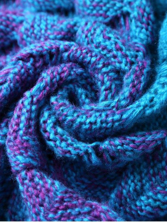 Knitted Mermaid Blanket - BLUE  Mobile