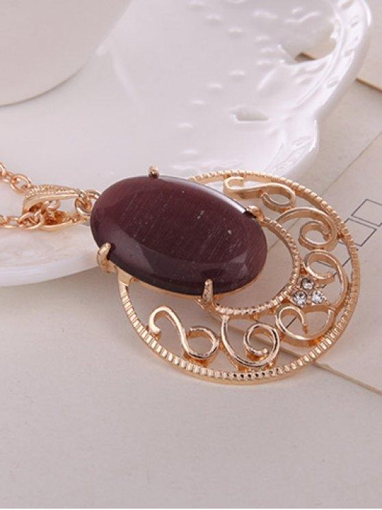 Rhinestone Faux Opal Jewelry Set -   Mobile