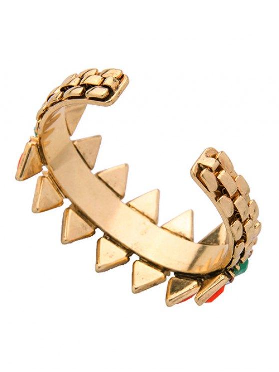 Fake Emerald Arrow Shape Cuff Bracelet -   Mobile