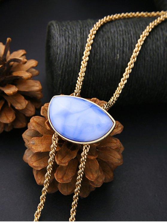 Geometry Fake Gem Cone Tassel Necklace - GOLDEN  Mobile