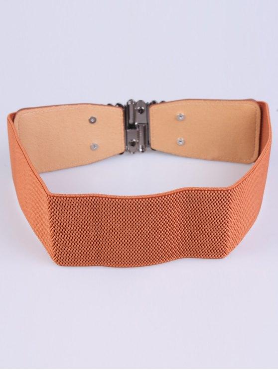 Bowknot Decorative Elastic Wide Belt -   Mobile