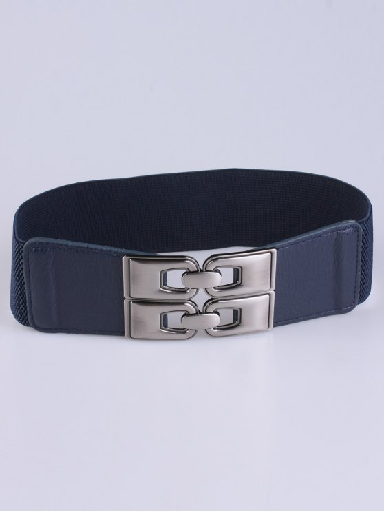 PU Alloy Elastic Wide Belt - DEEP BLUE  Mobile