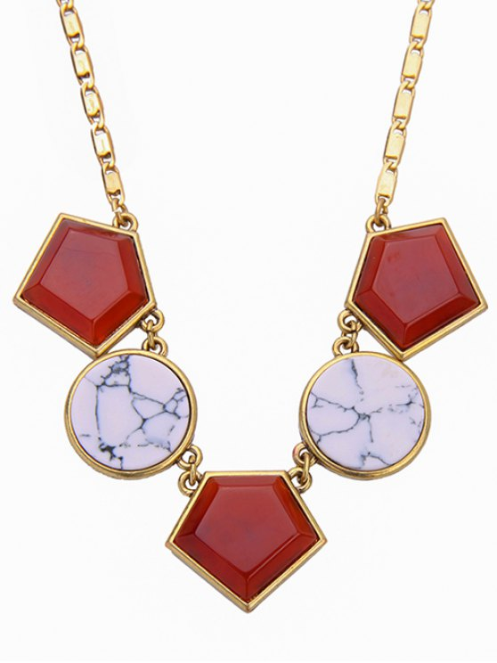 Geometry Faux Gem Necklace -   Mobile