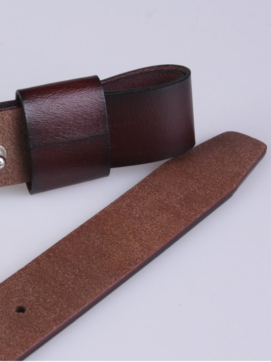 Adjustable Faux Leather Belt - COFFEE  Mobile