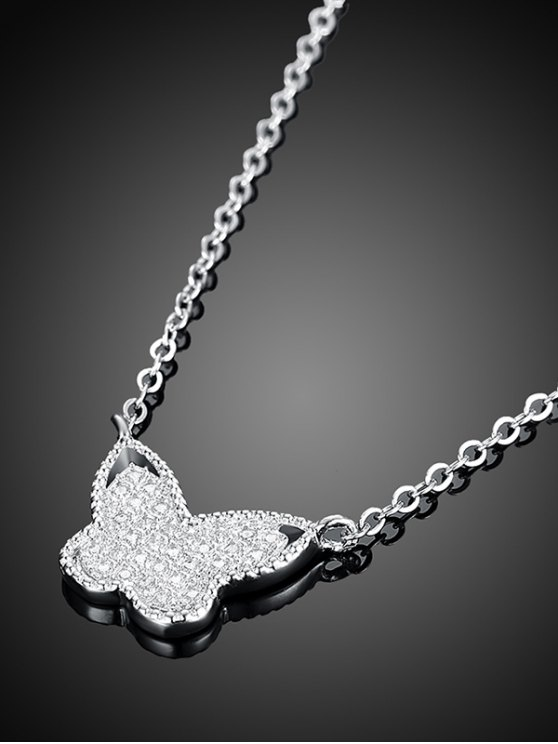 Butterfly S925 Diamond Necklace -   Mobile