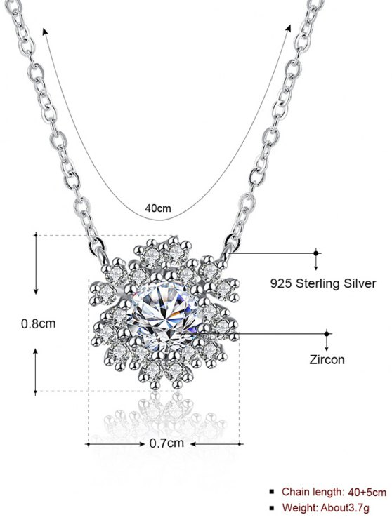 Snowflake S925 Diamond Necklace -   Mobile