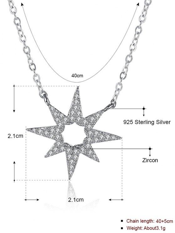 Star Flower S925 Diamond Necklace -   Mobile