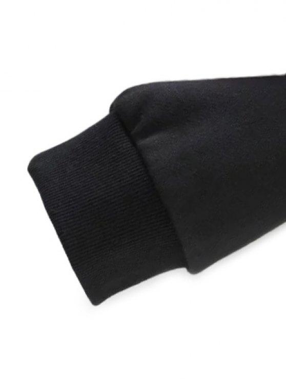 Loose Emroidered Sweatshirt - BLACK M Mobile