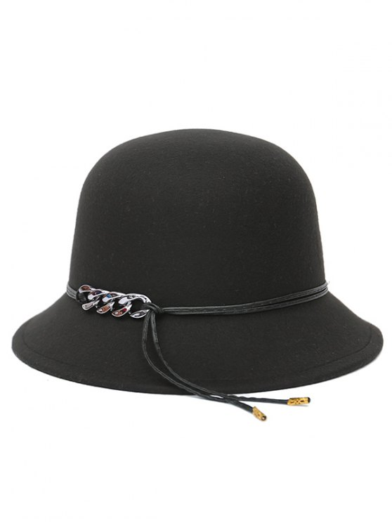 PU Rope Dome Hat - BLACK  Mobile