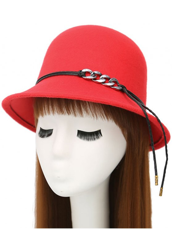 PU Rope Dome Hat - RED  Mobile