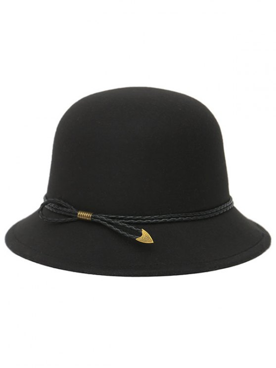 PU Rope Arrow Dome Hat - BLACK  Mobile