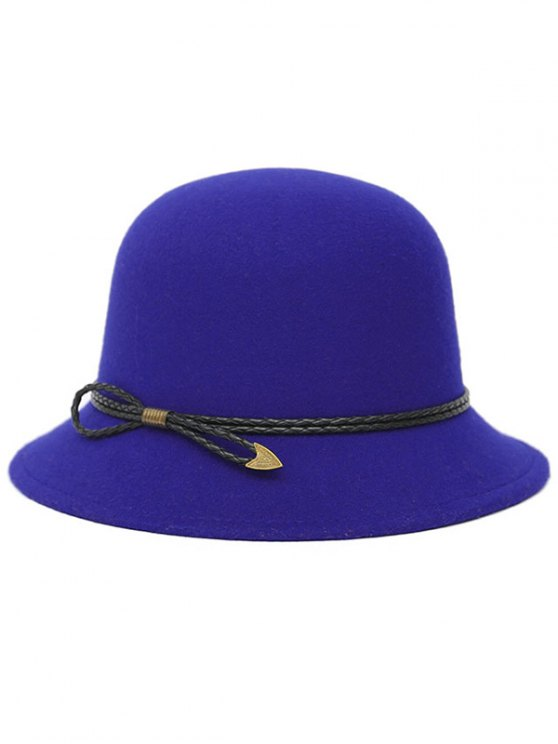 PU Rope Arrow Dome Hat - ROYAL  Mobile