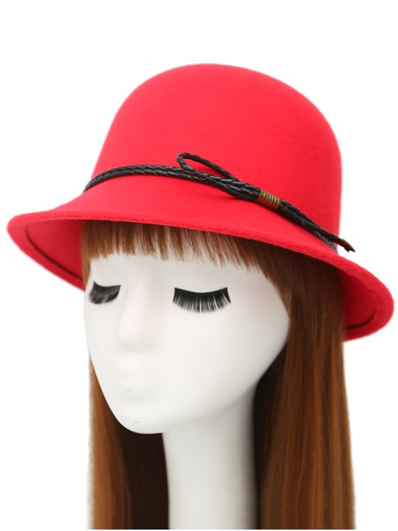 PU Rope Arrow Dome Hat -   Mobile
