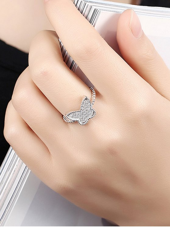 Butterfly S925 Diamond Ring -   Mobile