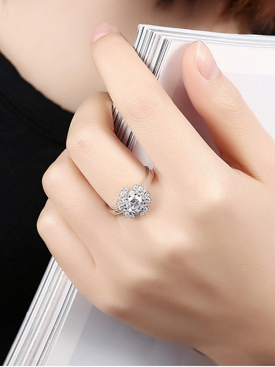 Snowflake S925 Diamond Ring -   Mobile