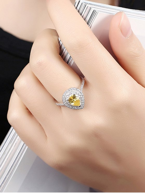 Teardrop Shape S925 Diamond Ring -   Mobile