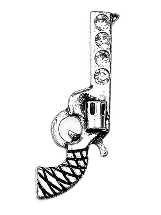 Rhinestone Guitar Gun Star Brooch Set -   Mobile