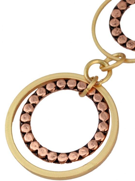 Rhinestone Circles Earrings -   Mobile