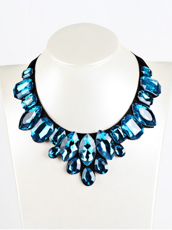 Geometry Faux Crystal Necklace -   Mobile