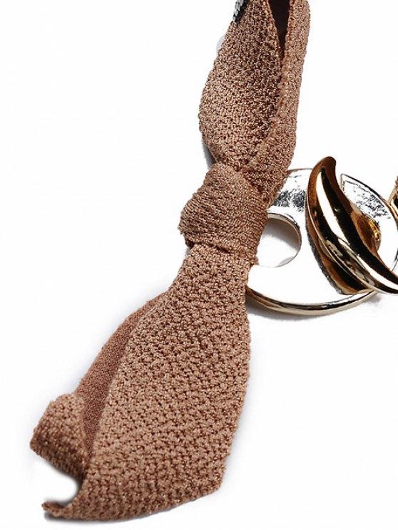 Bowknot Rhinestone Lint Bracelet - BLACK  Mobile