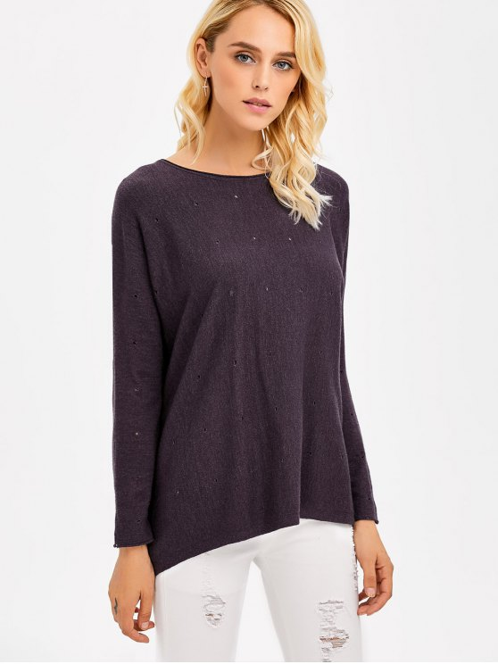 Hollow Out Loose Fitting Knitwear - STORMY ONE SIZE Mobile