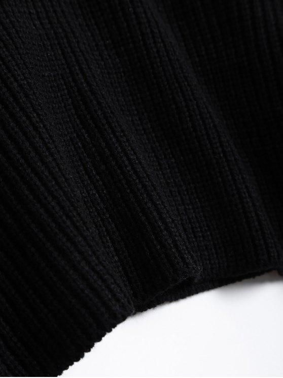 Zipper Choker Jumper - BLACK ONE SIZE Mobile
