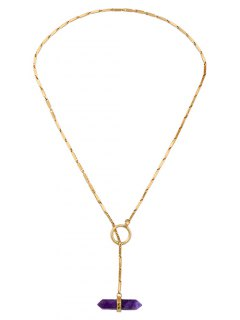 Geometry Natural Stone Necklace - Golden