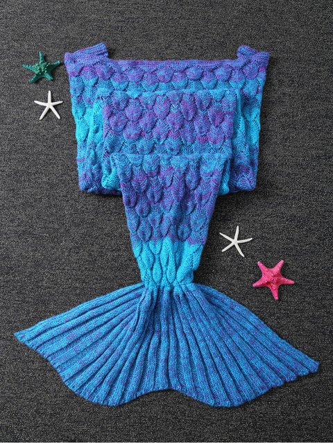 outfits Knitted Mermaid Blanket - BLUE  Mobile