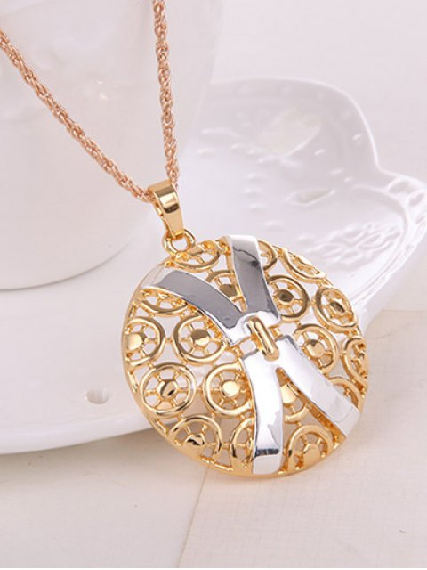 outfits Hollow Out X Shape Round Jewelry Set -   Mobile