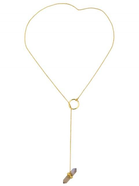 new Bullet Shape Natural Stone Necklace - GOLDEN  Mobile