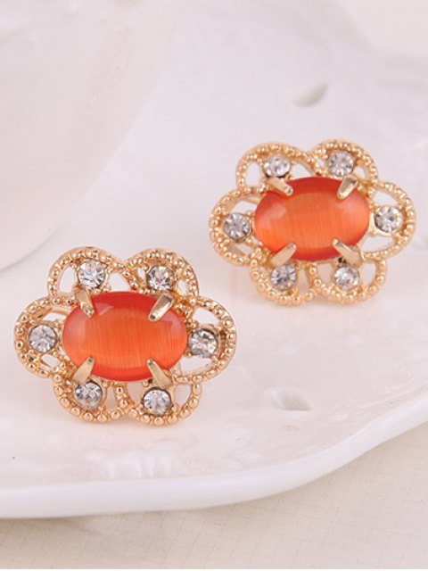 latest Rhinestone Floral Faux Opal Jewelry Set -   Mobile