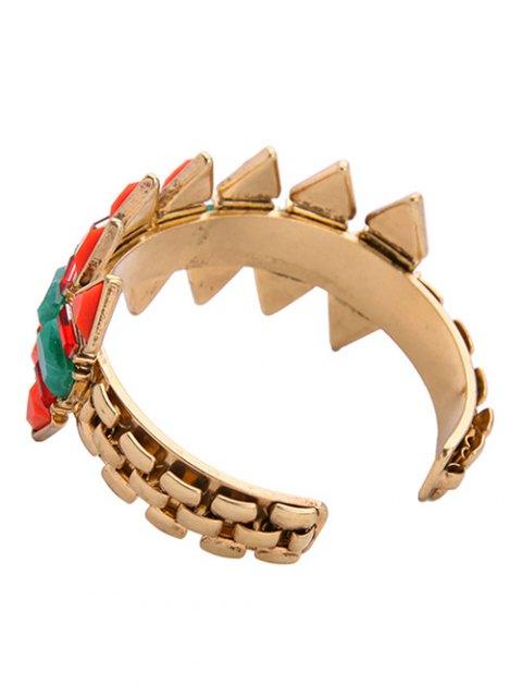 outfit Fake Emerald Arrow Shape Cuff Bracelet -   Mobile