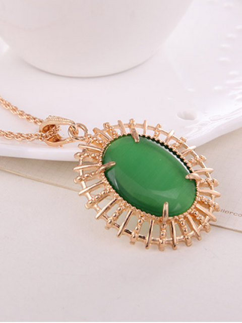 sale Oval Fake Opal Jewelry Set -   Mobile